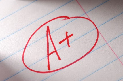 Getting good high school grades doesn't mean you don't need to study for the SAT or ACT.