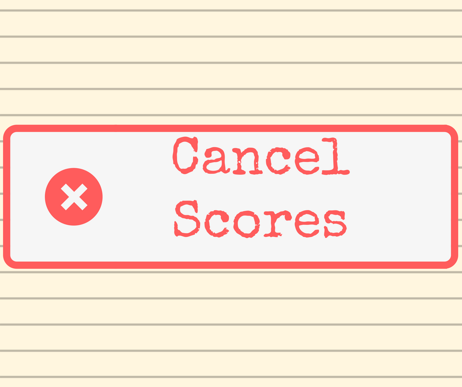 """""""Cancel Scores"""" stamp graphic on a lined paper background."""