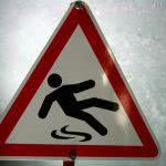 Icy Warning Sign.