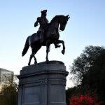 Equestrian statue of George Washington - Boston Public Garden.