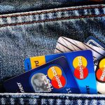 Credit cards in a pocket.