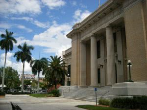 Historic Fort Myers building at Florida Gulf Coast University.