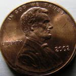 2002 D Lincoln Memorial Cent close-up.