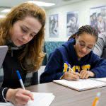 Students get help at an educational center