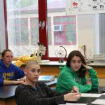 High school students in an AP class