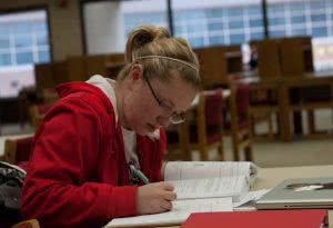 Student studying for the SAT or ACT