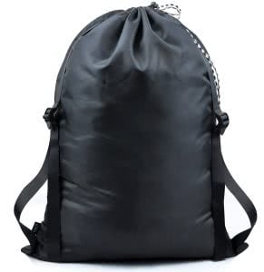 Black CREATE PRO Hanging Laundry Bag with Shoulder Straps and drawstring. Click to view the Amazon page.