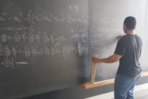 Student memorizing math formulas for the SAT exam