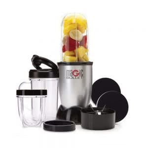 Magic Bullet blender with fruits inside. Click to view its Amazon Page.