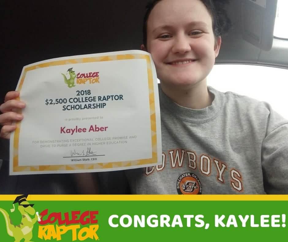 $2,500 College Raptor Scholarship