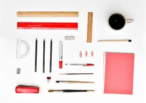 Organized desk supplies are neat and tidy just like these ACT tips and tricks