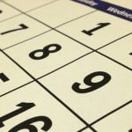 A close-up of a calendar.