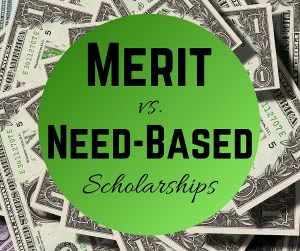 Money with text: Need based financial aid