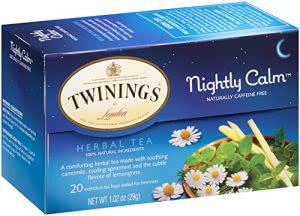 sleep tips Twinings nightly calm herbal tea