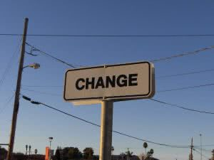 Sign that says change - calculate student loan payment