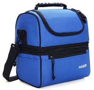 Navy blue MIER lunch box. Click to view the Amazon page.