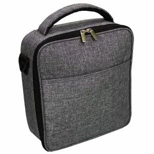 Charcoal gray UpperOrder insulated lunch bag. Click to view the Amazon page.