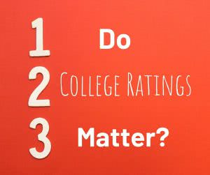 1,2,3 with text: do college ratings matter?