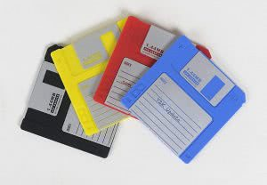 Modern Coasters floppy disk coasters