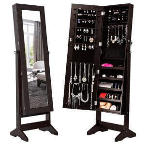 Floor mirror that doubles as a jewelry cabinet by LANGRIA. Image linked to its Amazon page.