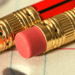 Pencil erasers to edit mistakes
