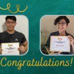 Scholarship winners William and Sofia