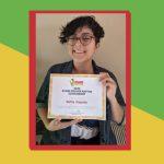 Scholarship award winner Sofia Zapata