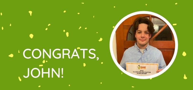 Scholarship winner John McGowan