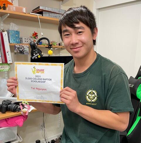 Scholarship winner Tai Nguyen