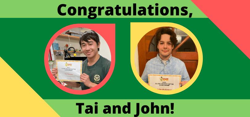 New Scholarship Winners Tai and John