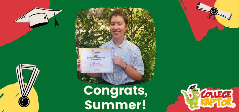 $1,000 scholarship winner Summer Hollingsworth
