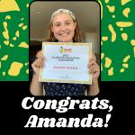 $2,500 scholarship winner Amanda McCard