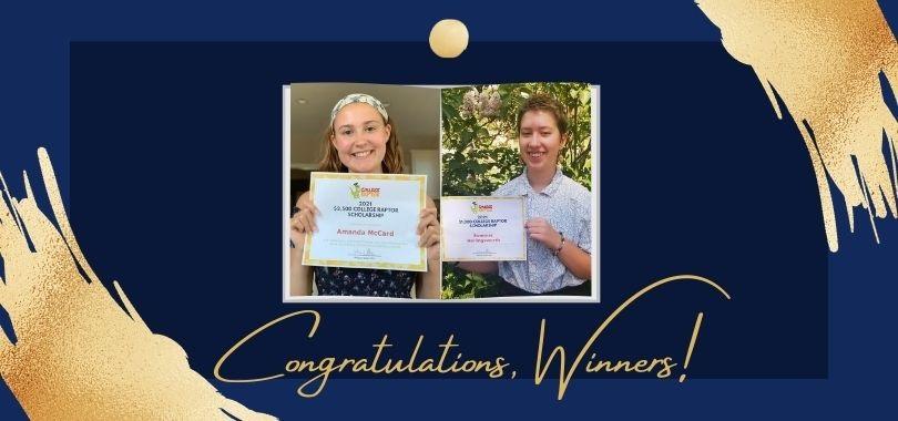 Scholarship Winners Amanda McCard and Summer Hollingsworth